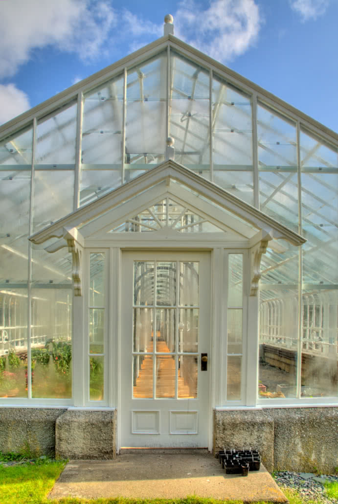 Front of the Glasshouse